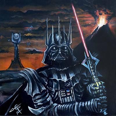 Darth Sauron Poster by Tom Carlton