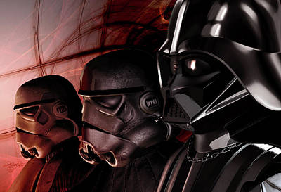 Darth Vader Lined Up With Stormtroopers Poster