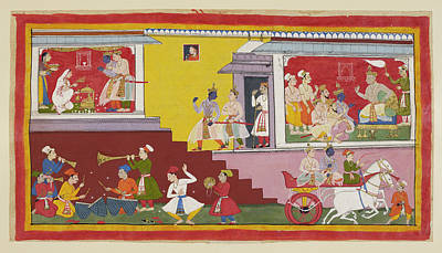 Dasaratha Tells Rama He Will Be Regent Poster by British Library