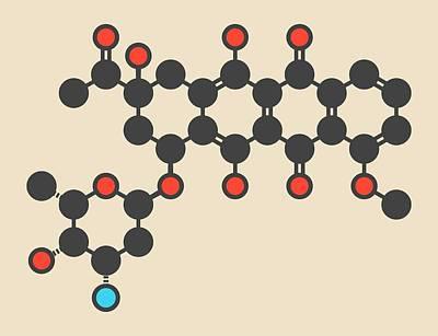 Daunorubicin Or Daunomycin Molecule Poster by Molekuul