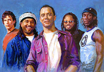 Poster featuring the drawing Dave Matthews Band by Viola El