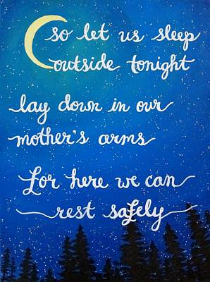 Dave Matthews Band Song Art So Let Us Sleep Outside Tonight Poster by Michelle Eshleman