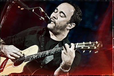 Dave Matthews Live At Farm Aid  Poster by Jennifer Rondinelli Reilly - Fine Art Photography