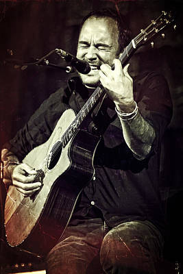 Dave Matthews On Acoustic Guitar 2 Poster by Jennifer Rondinelli Reilly - Fine Art Photography