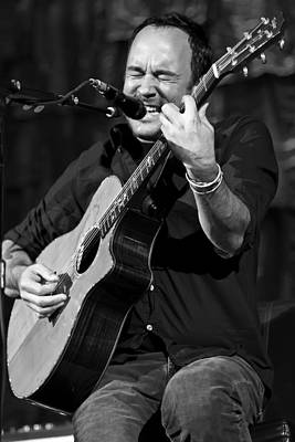 Dave Matthews On Guitar 1 Poster by Jennifer Rondinelli Reilly - Fine Art Photography