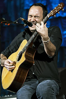 Dave Matthews On Guitar 3 Poster by Jennifer Rondinelli Reilly - Fine Art Photography