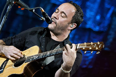 Dave Matthews On Guitar 6 Poster by Jennifer Rondinelli Reilly - Fine Art Photography