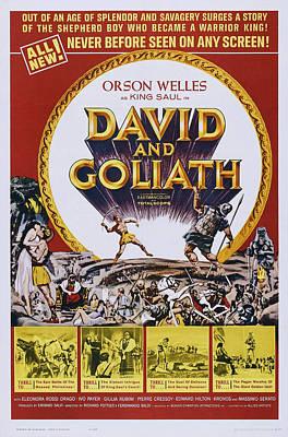 David And Goliath, Aka David E Golia Poster by Everett