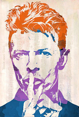 David Bowie Poster by Paulette B Wright