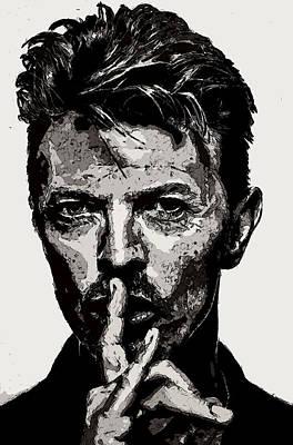 David Bowie - Pencil Poster