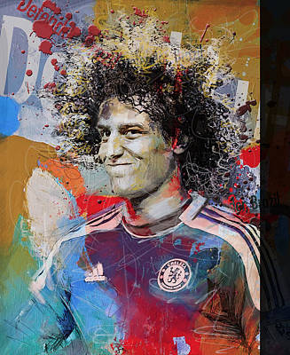 David Luiz - B Poster by Corporate Art Task Force