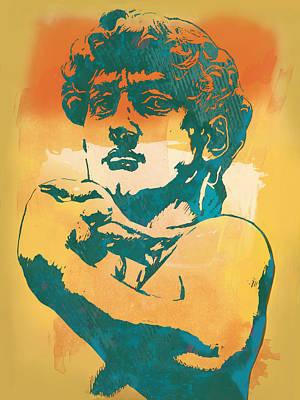 David - Michelangelo - Stylised Modern Pop Art Poster Poster by Kim Wang