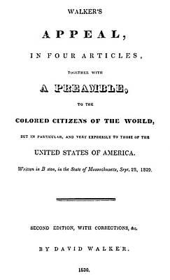 David Walker (1785-1830) Poster