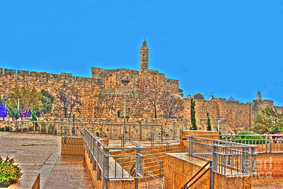 Poster featuring the photograph Davids Citadel - Israel by Doc Braham