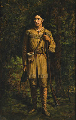 Poster featuring the painting Davy Crockett by Celestial Images