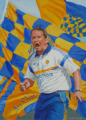 Davy Fitz Hurling Champion 2014 Poster by Tomas OMaoldomhnaigh
