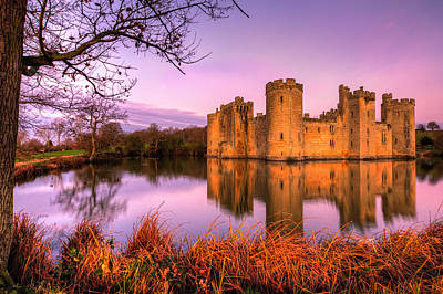 Dawn At Bodiam Poster