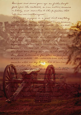 Dawn At Gettysburg Poster by Gary Grayson