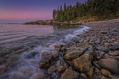 Little Hunter's Beach, Acadia National Park Poster by Rick Berk