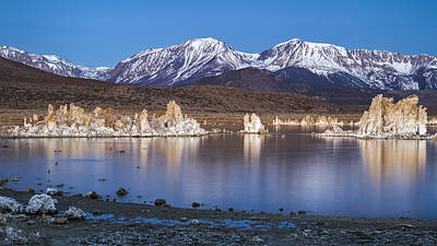 Dawn At Mono Lake Poster by Eduard Moldoveanu