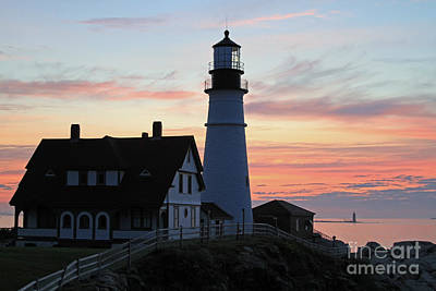 Dawn At Portland Head Lighthouse Poster by Bryan Maransky