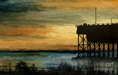 Dawn At The Iron Ore Dock Poster by R Kyllo