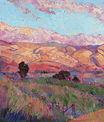Poster featuring the painting Dawn Hills - Left Panel by Erin Hanson