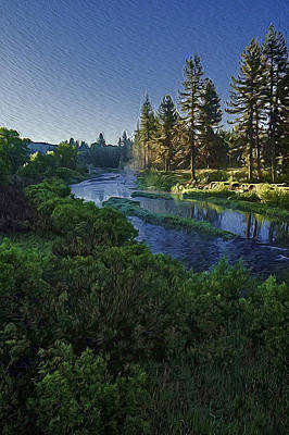 Poster featuring the photograph Dawn On The River by Nancy Marie Ricketts