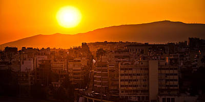 Dawn Over Athens Poster