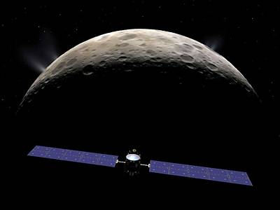 Dawn Spacecraft At Ceres Poster