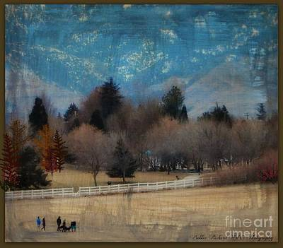 Day At The Park Painting  Poster by Bobbee Rickard