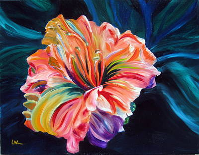 Poster featuring the painting Day Lily by LaVonne Hand