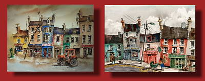 Day To Day Ennistymon Clare Poster by Val Byrne