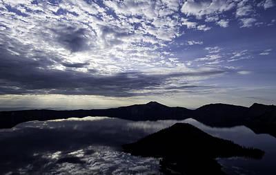 Daybreak At Crater Lake Poster