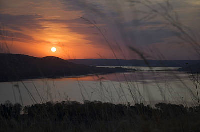Daybreak On Glen Lake Poster