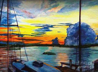 Daybreak Over  Apalachicola River  Poster
