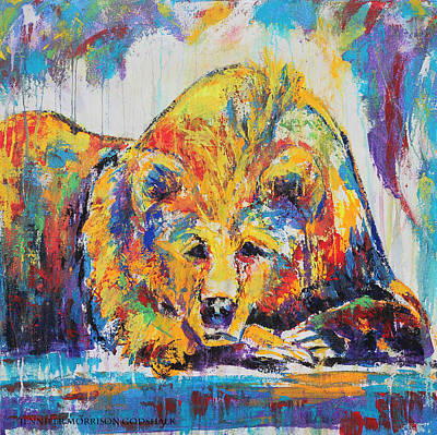 Daydreaming Bear Poster