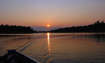 Poster featuring the photograph Sunset Fishing by Debbie Oppermann