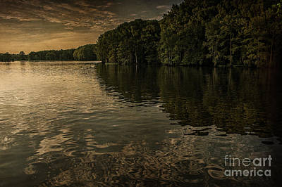 Days End On Caddo Lake Poster