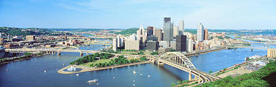 Daytime Skyline With The Delaware Poster by Panoramic Images