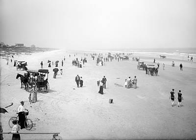 Daytona Beach Florida  1904 Poster by Daniel Hagerman