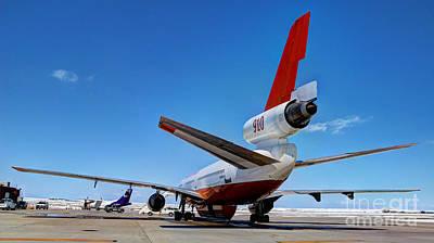 Poster featuring the photograph Dc-10 Air Tanker  by Bill Gabbert