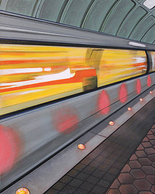 Dc Light Rail Poster by Jude Labuszewski