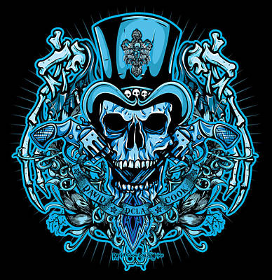 Dcla Skull Rocker Wings Poster