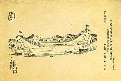 De Bodisco Artificial Sliding Hill Patent Art 2 1869 Poster by Ian Monk