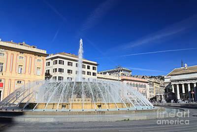 De Ferrari Square - Genova Poster by Antonio Scarpi
