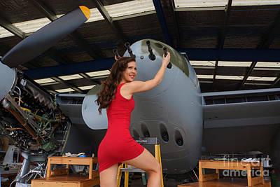 de Havilland Mosquito 04 Poster by Photographer Richard Hood Model Gee Lyon