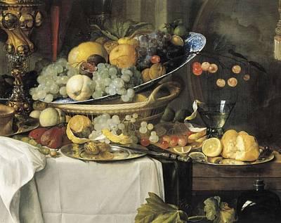 De Heem, Jan Davidsz 1606-1684. Fruits Poster by Everett