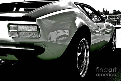 Poster featuring the photograph De Tomaso Pantera  1973 by Linda Bianic