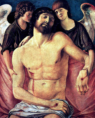 Dead Christ Supported By Angels 1485 Giovanni Bellini Poster by Karon Melillo DeVega